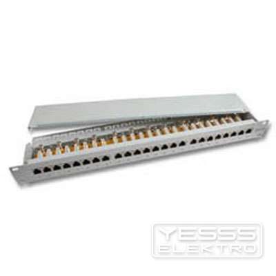 EFB Patchpanel Kupfer Patchpanel 24xRJ45 1HE, Cat.6 Class E 250 MHz, RAL7035