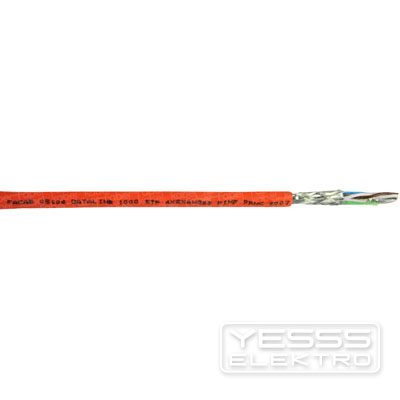 faber Datenkabel D10STPHD Netzwerkkabel, 8X2XAWG23CAT.7+ , 100m Ring, Duplex, FRNC, orange