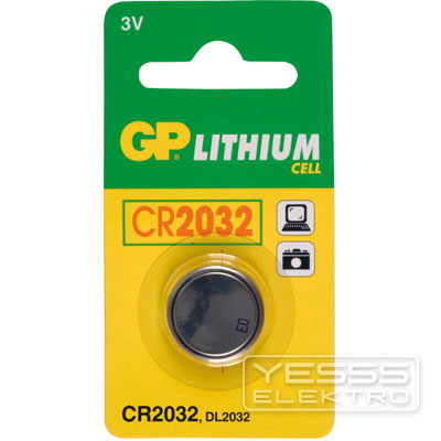 GP BATTERIES Knopfzelle/-batterie 3V, 220mAh, Li, CR 2032, DL 2032