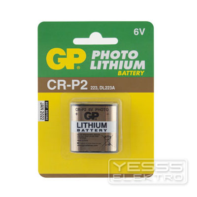 GP BATTERIES Batterie Lithium, 6V, CR-P2, 223, DL223A