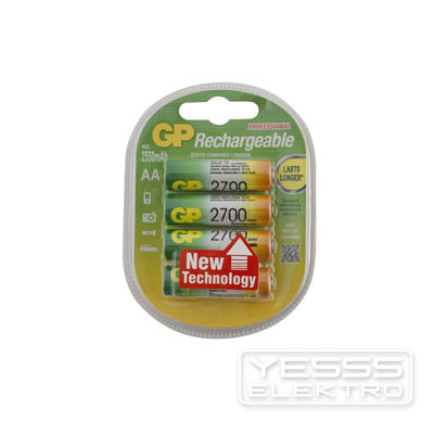 GP BATTERIES Akku Lithium Mignon AA 2700 mAh, 4er