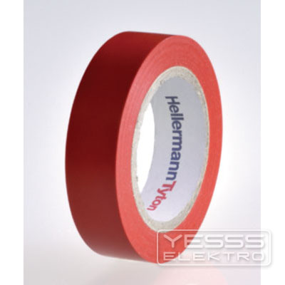 HellermannTyton Klebeband Standard PVC-Isolierband Isolierband 15mm x 10m rot