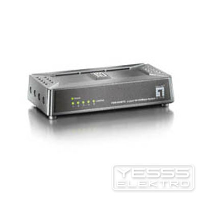 LEVELONE Netzwerk Switch 5 Port 10/100Mbps Fast Etherne t-Switch,  ultracompact