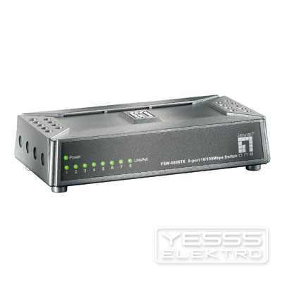 LEVELONE Netzwerk Switch 8 Port 10/100Mbps Fast Etherne t-Switch,  ultracompact