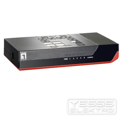 LEVELONE Netzwerk Switch 8-Port Mini FastEthernet Switch Black Edition""""