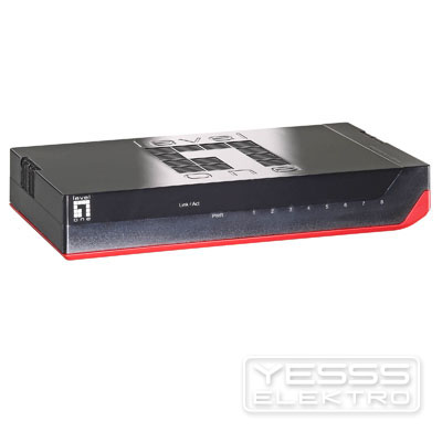 LEVELONE Netzwerk Switch 8-Port Gigabit Switch