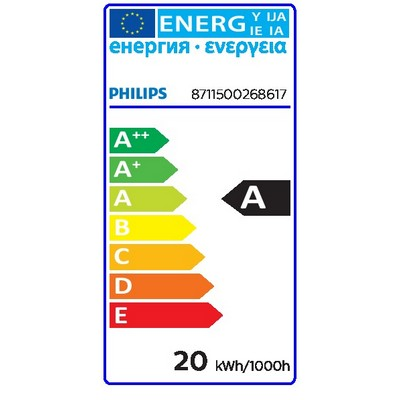 Philips Leuchtstofflampe MASTER TL-D Eco MASTER TL-D Eco - Fluorescent lamp - Lampenleistung EM 25°C,nominal: 1