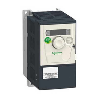Schneider Electric Frequenzumrichter =< 1 kV Frequenzumrichter ATV312, 0,75kW, 1,8kVA, 60W, 200..240 V- 1-ph. Vers.