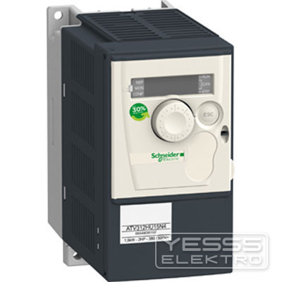 Schneider Electric Frequenzumrichter =< 1 kV Frequenzumrichter ATV312, 1,5kW, 4,2kVA, 61W, 380..500 V- 3-ph. Vers.s