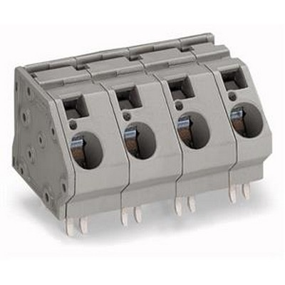 WAGO Leiterplattenklemme Serie 745 PCB terminal block 16 mm² Pin spacing 15 mm 6-pole gray