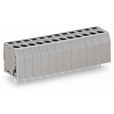 WAGO Leiterplattenklemme Serie 739 PCB terminal block 2.5 mm² Pin spacing 5 mm 3-pole gray
