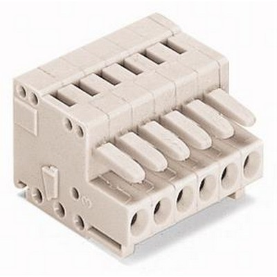 WAGO Kabelsteckverbinder für Leiterplattensteckverbinder Serie 734 Female connector 4-pole Pin spacing 3.5 mm / 0.138 in light gray