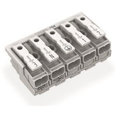 WAGO Ein- und mehrpolige Klemmenleiste Series 294 Power supply connector without ground contact without snap-in mounting