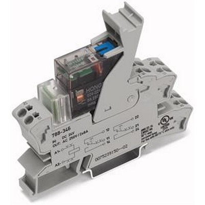 WAGO Schaltrelais Series 788 Socket with miniature switch. rel. Relay with 2u 24 VDC