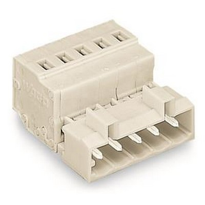 WAGO Kabelsteckverbinder für Leiterplattensteckverbinder Serie 721 Male connector 2-pole Pin spacing 5 mm / 0.197 in light gray