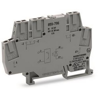 WAGO Optokoppler Series 859 Optocoupler terminal block for low switching power