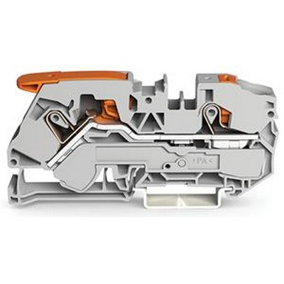 WAGO Durchgangs-Reihenklemme Serie 2116 2-conductor through terminal block with lever and push-button 16 mm²