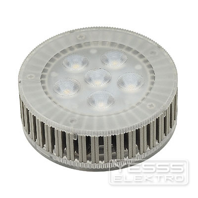 YESSS Light LED-Lampe/Multi-LED LED GX53 Leuchtmittel, 7,5W, 450lm, 6 SMD LED, 25°, 3000K